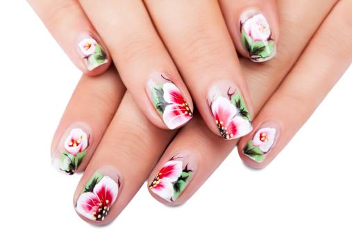 floral nail art, best nail art design, nailsbykiro