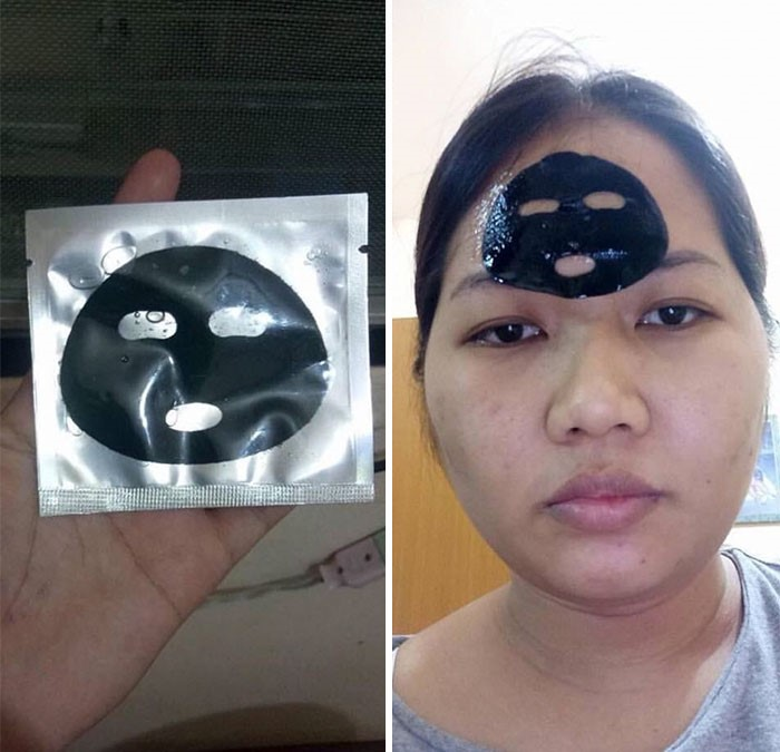 online shopping, funny, face mask, small, charcoal, women, sad, happy