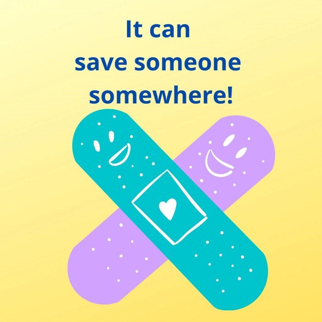 helping, suicides, motivation, bandage