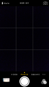 gridlines of mobile camera