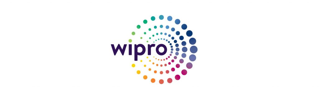 Image shows the logo of Wipro which is one of the market leader in the IT sector.